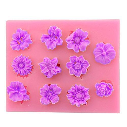 Let 's DIY verschiedenen Formen von Blume 3D Silikon Kuchen Fondant Dekoration Form Werkzeuge