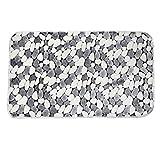 Da.Wa 2Pcs Badteppich Matte Set Microfiber Absorbent Anti-Rutsch Badezimmer Kontur Matten Combo Duschmatte und U-Förmigen WC Boden Teppich