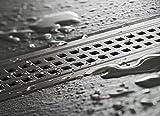 Vida Bath Stainless Steel Shower Channel Drain (45cm) Matte Finish