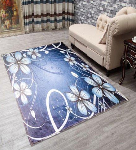Wohnzimmer Teppich Schlafzimmer Nachttisch Sofa Tee Tisch groß Teppich Kinder 3D Cartoon Haarverdichtung rutschfeste Druck Fußmatte, orchidee, 1.2 m x1.8 m -