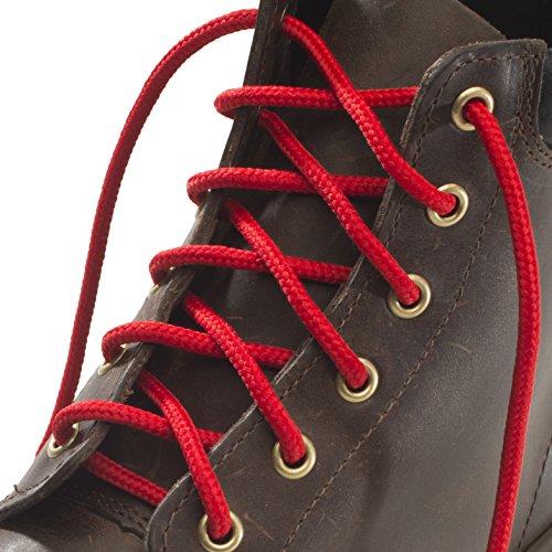Cordones Fuertes - Rojo - 4 mm redondos - ideales para botas de montaña de 90 a 240 cm