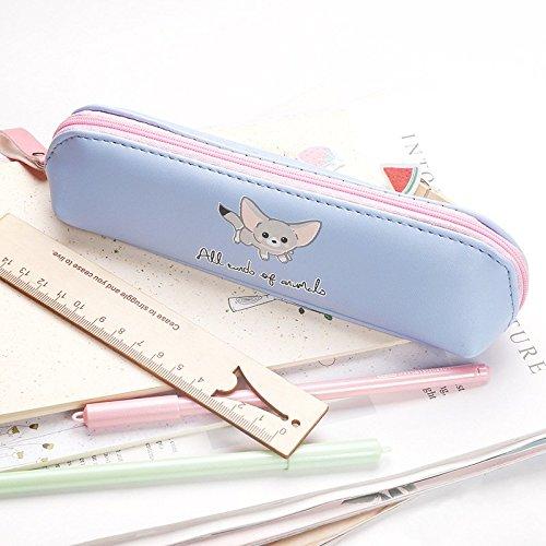 Fablcrew Trousse à Crayons Scolaire Taille de sac de papeterie de bande dessinée: 19 * 5.5 * 4cm, matériel: cuir