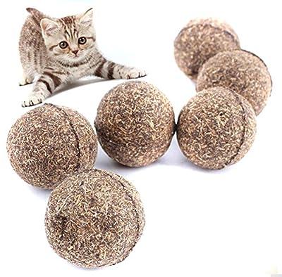 ODN 2pcs Natural Catnip Ball Cat Treats Pet Cat Toys Funny Treats Ball Home Chasing Toys For Cats Kitten