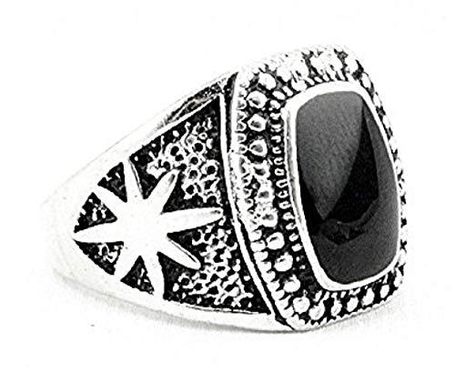 Inception Pro Infinite Ring - Silber Farbe - Schwarzer Stein - Side Stars - Geschenkidee