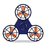 Polpastrello Elettrico Migliorato Versione Ricarica LED illuminante Anti-Stress Volante Antenna giroscopico Girevole Giocattolo Superiore a Spirale,Blue