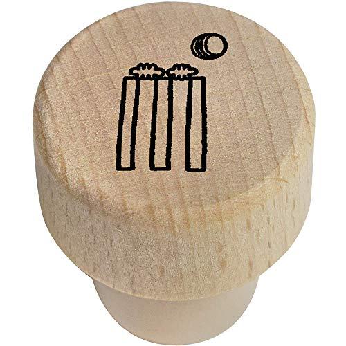 Azeeda 19mm 'Cricket Wickets und Ball' Flaschenverschluss (BS00010666)