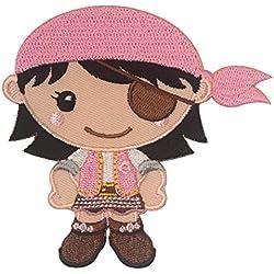PatchMommy Parche Bordado Pirata Chica Parche Termoadhesivo - Parches y Apliques Infantiles