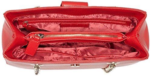 Mario Valentino Damen Divina Schultertasche, 9.5x23x30 cm Rot (Rosso)