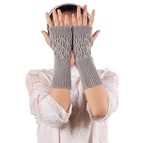 Damen-accessoires Schnelle Lieferung Warm Knit Finger Arm Wramers Damen Herbst Winter Gestrickte Halbe Finger Manschette Handschuhe Frauen Winter Lange Handschuhe Um 50 Prozent Reduziert