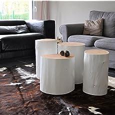 table dappoint tronc darbre table de chevet bout de canap bois naturel - Table De Nuit Rondin De Bois