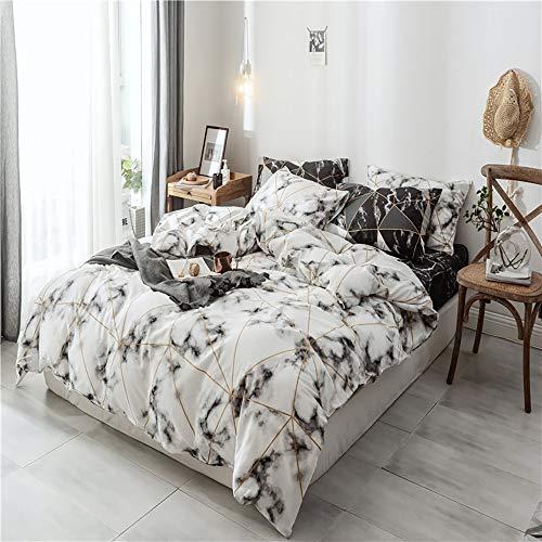Modow Diamond Abschnitt Muster Marmor Gedruckt 100% Ägyptischer Baumwolle Europäische Qualität 3 Stück Bettbezug Set Mit Kissenbezügen,USFull -