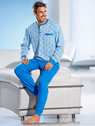 Herren Schlafanzug by KLiNGEL blau/bordeaux/marine