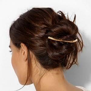 vente chaude en ligne rencontrer matériaux de haute qualité Barrette à cheveux longue et bombée - Doré: Amazon.fr ...