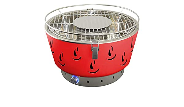 Weber Holzkohlegrill Rauchfrei : Activa grill tischgrill airbroil rot holzkohlegrill: amazon.de