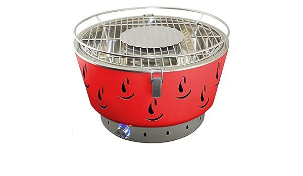 El Fuego Rauchfreier Holzkohlegrill Tulsa : Activa grill tischgrill airbroil rot holzkohlegrill: amazon.de