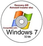 Windows 7 Home Premium 32 Bit New Reinstall Operating System Boot Disc - Repair Restore Recover DVD