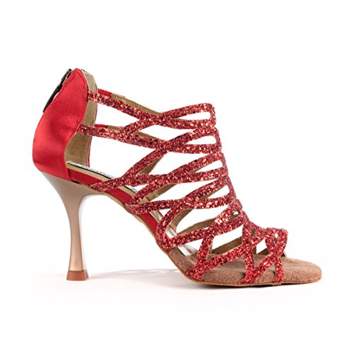 PortDance Mujeres Zapatos Baile PD803 Pro - Satén/Glitter