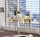 casamia Schreibtisch mit Aufsatz 4 Schubkästen Pinie massiv (BxHxL) = 120 x 75 x 60 cm Pinie Vintage