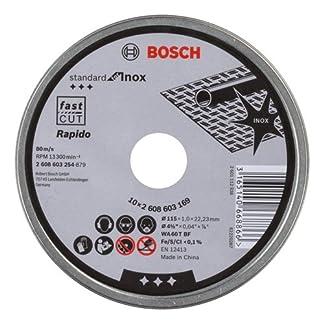 Bosch 2 608 603 254 – Disco de corte inox, 115×1 mm, 10 Unidades