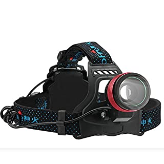 SupFire HL01 LED Adjustable LED Head Torch,800LM Ultra Bright LED Rechargeable Headlamp Waterproof,Zoombable Focus 3 Modes Headlight Flashlight with USB Charger, for Hiking Camping Hunting Fishing