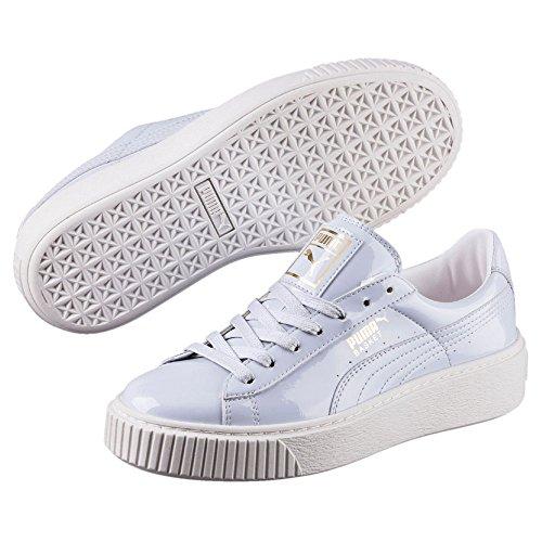 Puma Damen Basket Platform Patent Wn's Sneaker, Blau (Halogen Blue-Halogen Blue), 37 EU (Leder Patent Blau Schuhe)