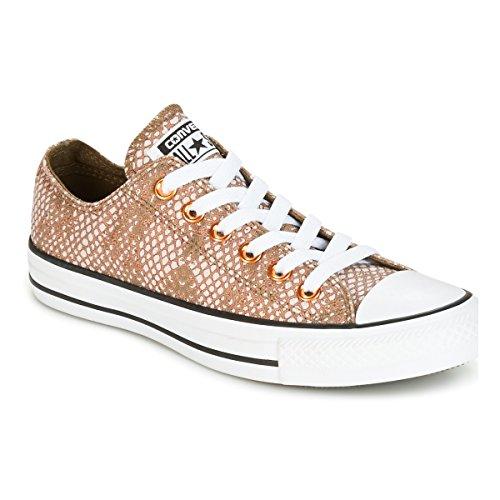 Converse Chuck Taylor All Star Lurex Snake OX Lurex Snake OX Pale Putty/M Sneaker Damen Rose/Kaki/Weiss - 41 - Sneaker Low