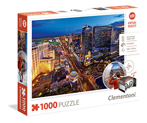 Clementoni 39404 - Puzzle 1000 Virtual Reality - Las Vegas