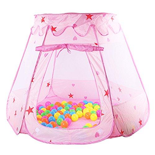 La Cabina Tentes Rabattable Bébé Jouets de Rangement Piscine de Balle Respirant Pliant Tente Maison Aire de Jeux Exterieur et Intérieur Multicolore Maison de Jeu Jouets Domestiques pour Enfant (ros