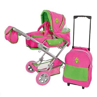 Knorrtoys 61434 Luke - Juego de carrito para muñeco y mochila con ruedas, color rosa por Knorrtoys.com