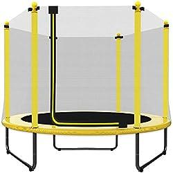 EUR POINT Trampoline pour Enfants de 150 cm avec Enceinte de sécurité, Acier galvanisé, Ressorts de Haute résistance 36pcs - Trampoline de Jardin idéal pour l'intérieur et l'extérieur