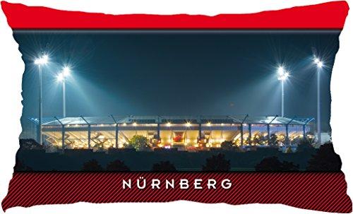 Nürnberg Stadion aussen Stadionpostkarten-Kissen (60 cm x 40 cm)