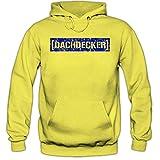 Shirt Happenz Dachdecker #1 Premiumhoodie | Berufe-Hoodie | Dach | Dachdecken | Herren | Kapuzenpullover, Farbe:Gelb;Größe:3XL