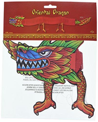 Beistle 55701 Asiatischer Gewebe-Drache, 6-Fuß (Neues Jahr-dekorationen Machen Chinesische)