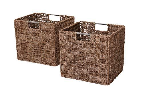 Vivanno 2 Regalkörbe aus Seegras f. Ikea Expedit/Bonde natur