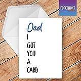 personalisierbar Funny I Got You A Karte Vatertag Spoof Grußkarte–Texten für jede Gelegenheit oder Event–Geburtstag/Weihnachten/Hochzeit/Jahrestag/Verlobung/Vatertag/Muttertag