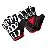 Amosfun 1 Pair Mens Gloves Atemberaubende Cycling Gloves Bike Riding Glove Gym Gloves for Fitness Outdoor Sport Workout M