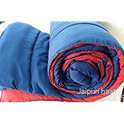 Jaipuri Haat Soft Micro Polyester and cotton Mix Single Duvet /Comforter/ Quilt/ Razai along with Travel Bag