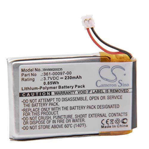 vhbw Li-Polymer Akku 230mAh (3.7V) für Smartwatch Uhr Fitnessarmband Garmin Fenix 5, 5s, 5X