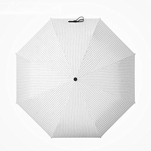 Umbrella - Windproof Reinforced Frame, Striped Umbrella Umbrella Umbrella Anti - UV Female Vials 5 Fold Umbrella