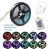 Luces de tira LED RGB de 2 m Luces de tira a...