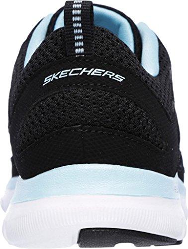 Skechers Flex Appeal 2.0 Simplistic Women's Trainers fitness Lite Weight black Schwarz/Türkis