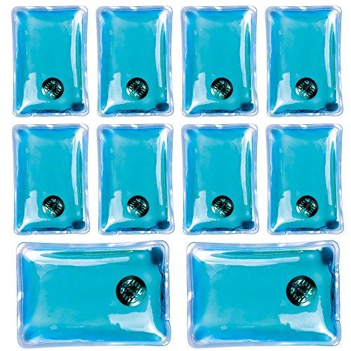 Confezione da 10 gel riutilizzabile dello scaldino della mano Heat Pack - confezioni Riscaldamento istantanea (rettangolo blu)