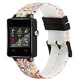 Fit-power Ersatz-Armband für Garmin Vivoactive-Armbanduhr-Band, Soft-Silikon-Ersatz Fitnessarmbänder mit Metallverschlüssen für Garmin Vivoactive/Vivoactive Acetat Sport GPS Smart Watch, PatternF