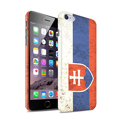 STUFF4 Glanz Snap-On Hülle / Case für Apple iPhone X/10 / Griechenland/Griechisch Muster / Flagge Kollektion Slowakei/Slowakisch