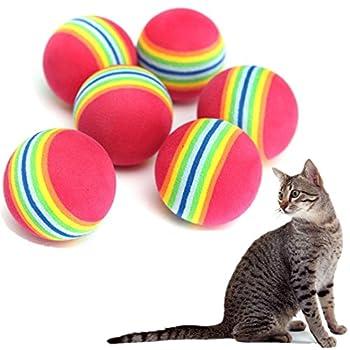 6pcs Mignon Coloréés Mousse Jouet Balles pour Pet Chien Chat