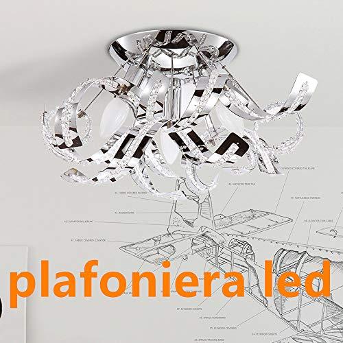 Plafoniera soffitto moderna lampadario cristallo design k9 crystal lampadari moderni soggiorno plafoniera bagno lampadario cucina