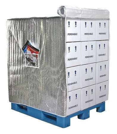 Pallet Cover, Insulated, 48 In D x 40 In L by Polar Tech