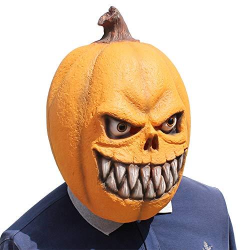 Mann Kostüm Kopf Kürbis - Yalatan Terror Kürbis Kopf Maske, kreative lustige Maske Latex Maske für Männer Frauen Kid, Kostüm Dress Up Prop Festliche Party Supplies