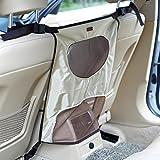 La vogue Hunde Rücksitz Barriere Haustier Auto Sicherheitsnetz Hundenetz für Autoreise (Beige)