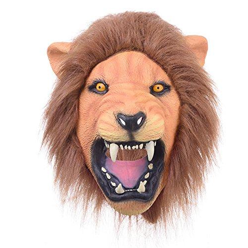 Halloween Máscara Adultos de látex animales León Fiesta Disfraz Prop